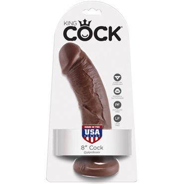 PipeDream King Cock 20,3см Cock, коричневый Фаллоимитатор реалистик на присоске фаллоимитатор реалистик morpheus dreamer cock vibratin