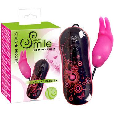 Smile Vibro Bullet Funky Rabbit, розовая Вибропуля с пультом управления презервативы durex elite 12 шт