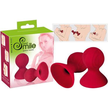Sweet Smile Nipple Teaser, красные Присоски для сосков pipedream silicone bondage whip красный силиконовая плеть