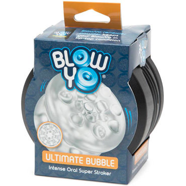 BlowYo Ultimate Bubble, белый Стимулятор для пениса tokidoki black diamonds черная вибропуля с рисунком