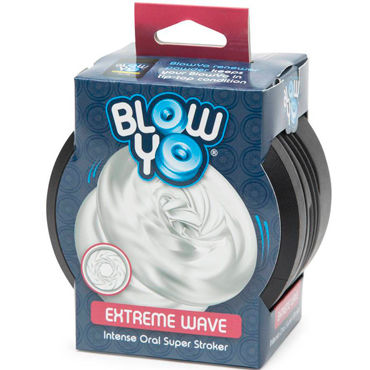 BlowYo Extreme Wave, белый Стимулятор для пениса blowyo sensation swirl белый стимулятор для пениса