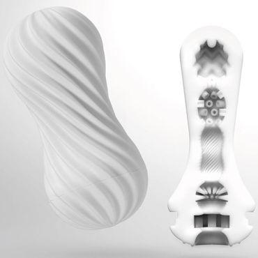 Tenga Flex Silky White, белый Мастурбатор с вращательной функцией водонепроницаемые беспроводную клавиатуру пуля вибратор g spot электрический вибратор секс игрушки для женщины 360675