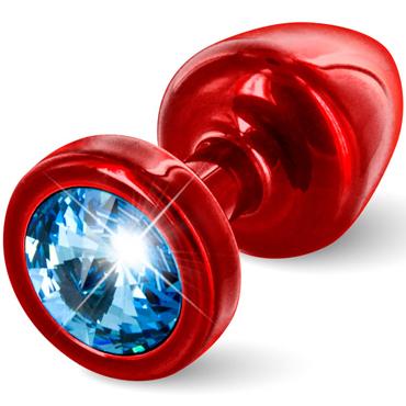 Diogol Anni, красная Втулка с голубым кристаллом Swarovski avanua eternity corset эротичный корсет с поясом и трусики
