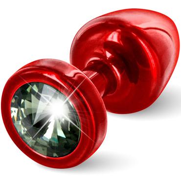 Diogol Anni, красная Втулка с черным кристаллом Swarovski diogol anni heart t1 красная анальная пробка с кристаллом swarovski в форме сердца