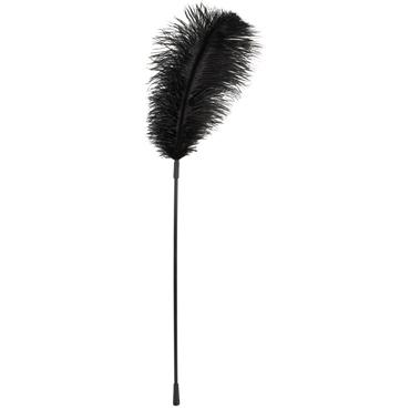 Bad Kitty Feather, черное Перышко с длинной ручкой фаллоимитатор из стекла icicles no 29