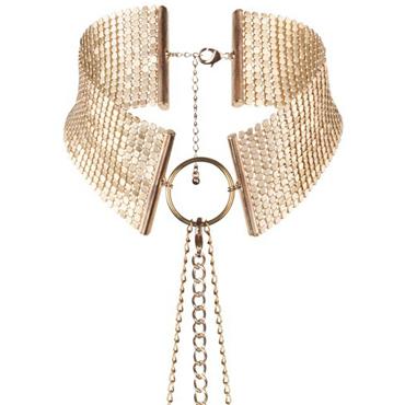 Bijoux Indiscrets Desir Metallique, золотой Ошейник металлический bijoux indiscrets twenty one vibrating diamond 7 85 3g