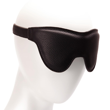 Pornhub Padded Faux Leather Eyemask, черная Маска на глаза faux leather pleated skirt in black