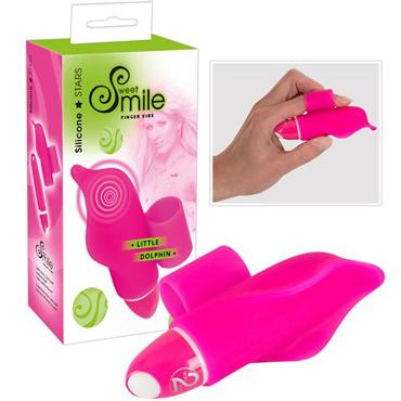 Smile Little Dolphin, розовый Пальчиковый вибратор tokyo design maro kawaii 2 миниатюрный вибратор с подвижными ушками
