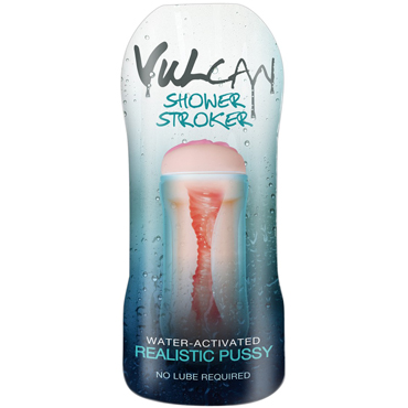 Topco Vulcan Shower Stroker, телесный Мастурбатор с эффектом смазки topco cat in a can cyberskin pussy stroker компактный мастурбатор