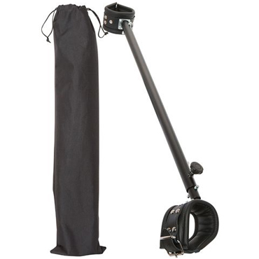 Zado Leather Spreader Bar, черная Распорка для ног регулируемая д zado шлепалка