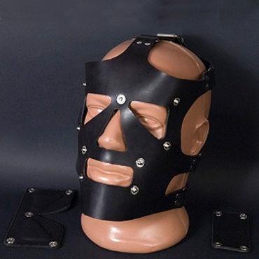 Beastly маска, черная С отстегивающимися элементами шлем для жесткого бдсм master series