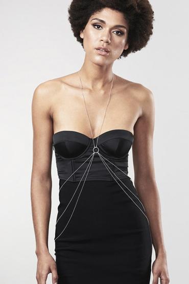 Bijoux Magnifique 8 Body Chain, серебристое Украшение для тела из металлических цепочек punk style alloy hollow out body chain for women