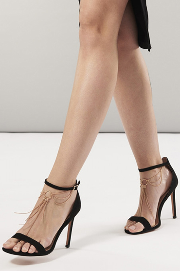 Bijoux Magnifique Feet Chain, золотое Украшение для ног из металлических цепочек bijoux magnifique metallic chain handcuffs bracelets серебристые наручники из цепочек стильные браслеты