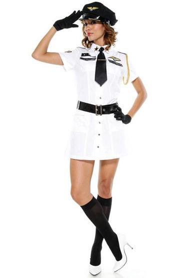 Le Frivole Военная авиация Платье, ремень, перчатки и галстук le frivole стюардесса vip платье пилотка и галстук