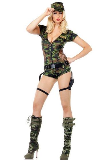 Le Frivole Спецназ Камуфляжное боди и ремень костюм le frivole cексуального полицейского l xl