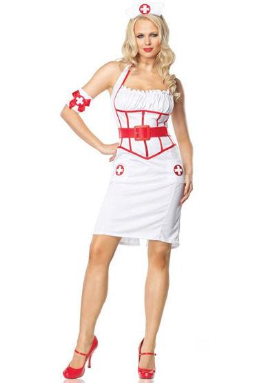 Le Frivole Главный врач Платье, чепчик, ремень и нарукавник le frivole роковая служанка мини платье с фартучком и чепчик