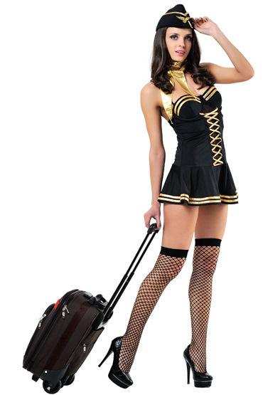 Le Frivole Милая стюардесса Платье, шарфик, пилотка и чулки ду frivole старшая медсестра и