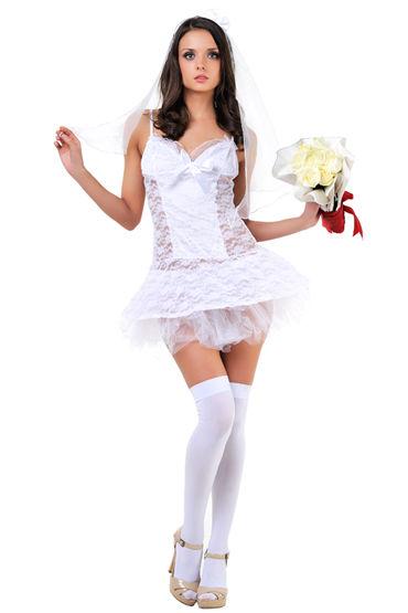 Le Frivole Невеста Сорочка и фата shirley комплект черный сорочка с прозрачными вставками и стринги