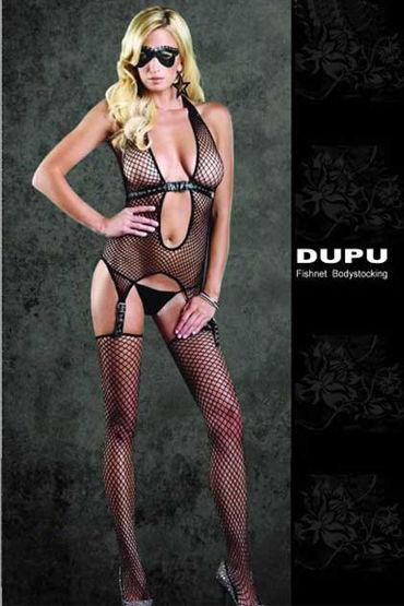 Dupu комплект Топ с подтяжками и чулки