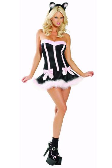 Le Frivole Кошечка Мини-платье и ушки ideal animal delight розовый ротатор со стимуляцией клитора