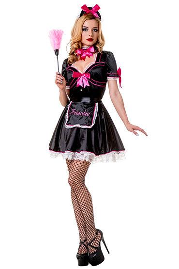 Le Frivole Frenchie Kiss Платье, фартук, чепчик и повязка на шею эротическая одежда и обувь материал эластан