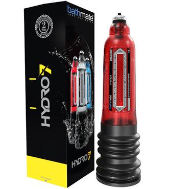 Bathmate Hydro7, красная Гидропомпа для увеличения пениса (размер M) спрей bathmate clean 100 мл