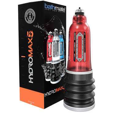 Bathmate Hydromax5, красная Модернизированная гидропомпа для увеличения пениса (размер S) shunga vanilla fetish 100 мл молока