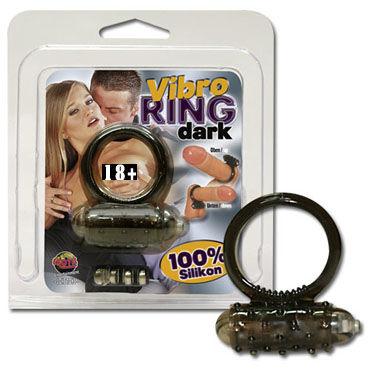 Vibro Ring Dark кольцо Эрекционное кольцо с вибрацией vizit сексометр эрекционное кольцо со счетчиком фрикций