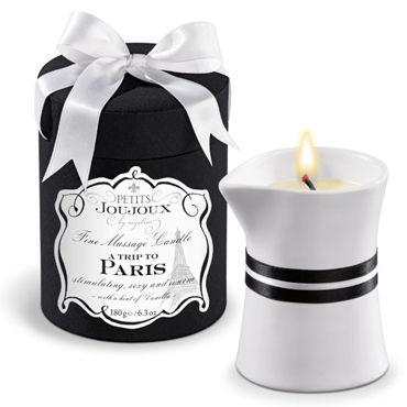 Mystim Petits Joujoux A Trip To Paris, 190г Свеча для массажа с ароматом ванили и сандала ночная сорочка и стринги soft line holly красные xxxl