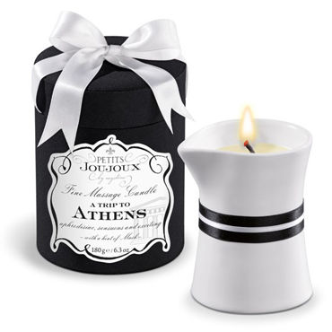 Mystim Petits Joujoux A Trip To Athens, 190г Свеча для массажа с ароматом мускуса и пачули косметика и аксессуары аромат – пряный