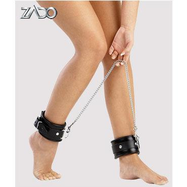 Zado кандалы для ног Кожаные erokay ancles cuffs черные кандалы с фактурным узором