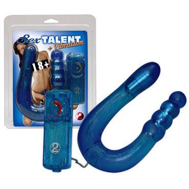 Sexy Talent Двусторонний анально-вагинальный вибратор soft line merilyn черный ворон