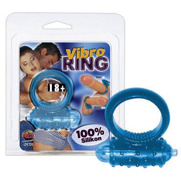 Vibro Ring кольцо Эрекционное кольцо с вибрацией анальный cтимулятор penis probe clear blue
