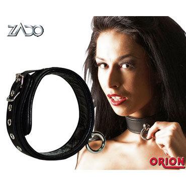 Zado Bondage ошейник Кожаный zado leather collar ошейник с кольцом для пристегивания