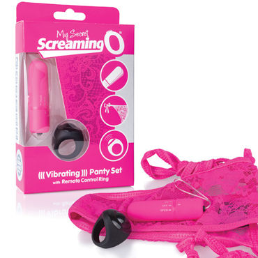 Screaming O Remote Control Panty Vibe, розовый Комплект из вибропули и трусиков screaming o vibroman голубой набор из 3 виброигрушек