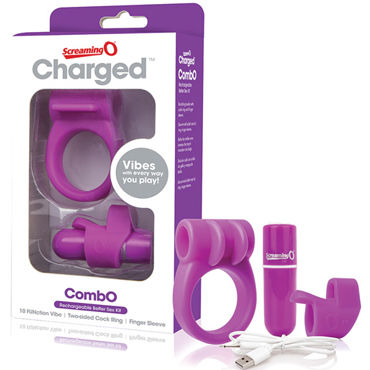 Screaming O Charged CombO Kit, фиолетовый