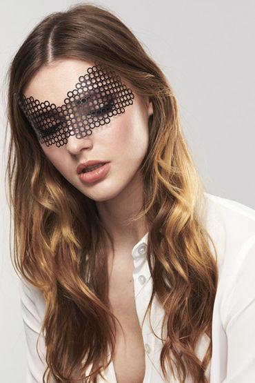 Bijoux Indiscrets Erika Mask, черная Маска маскарадная bijoux indiscrets pom pom черная кисточка из перьев