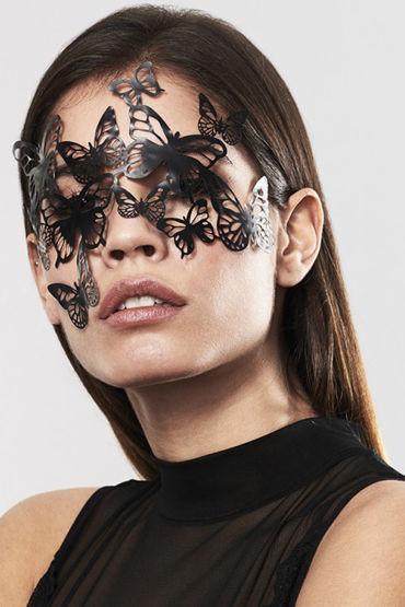 Bijoux Indiscrets Sybille Mask, черная Маска маскарадная bijoux indiscrets pom pom черная кисточка из перьев