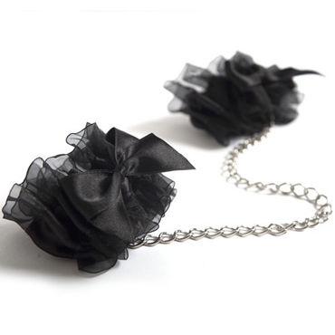 Bijoux Indiscrets Frou Frou, черные Наручники из органзы lelo etherea черный роскошные шелковые наручники