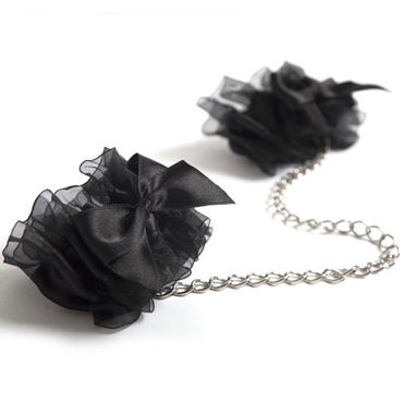 Bijoux Indiscrets Frou Frou, черные Наручники из органзы bijoux indiscrets twenty one vibrating diamond на