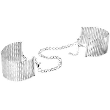 Bijoux Indiscrets Desir Metallique, серебряные Наручники металлические bijoux indiscrets plaisir nacr белые наручники из небольших жемчужин