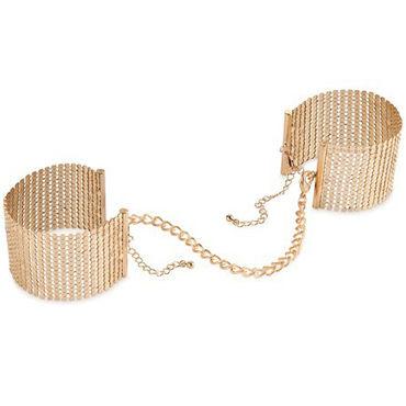 Bijoux Indiscrets Desir Metallique, золотые Наручники металлические bijoux indiscrets plaisir nacr белые наручники из небольших жемчужин