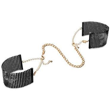 Bijoux Indiscrets Desir Metallique, черные Наручники металлические bijoux indiscrets plaisir nacr белые наручники из небольших жемчужин