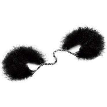 Bijoux Indiscrets Za Za Zu, черные Наручники украшенные перьями презервативы unilatex ribbed 12 шт 3 шт в подарок