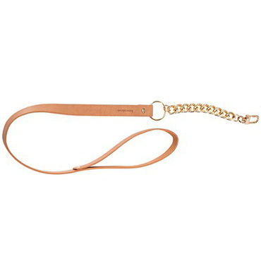Bijoux Indiscrets MAZE Leash, коричневый Поводок из металла и искусственной кожи fetish fantasy chastity belt