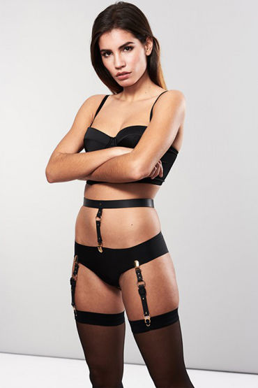 Bijoux Indiscrets MAZE Suspender Belt for Underwear & Stockings, черные