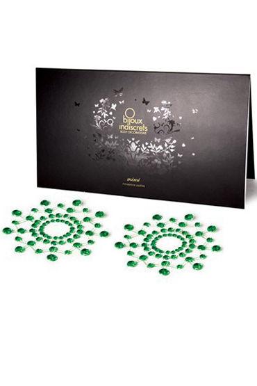 Bijoux Indiscrets MiMi, зеленое Украшение для груди пестисы bijoux indiscrets mimi black черный