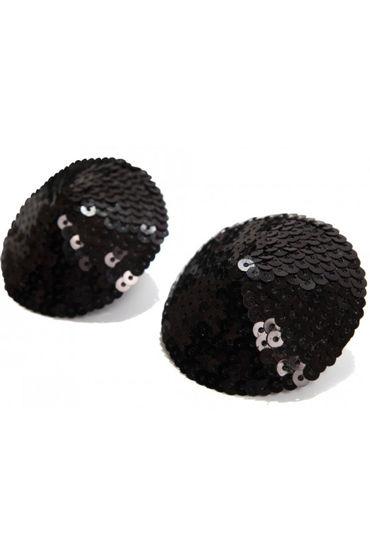 Bijoux Indiscrets Burlesque Pasties Sequin, черные Пэстисы расшитые пайетками baci тедди черное из тонкой сеточки