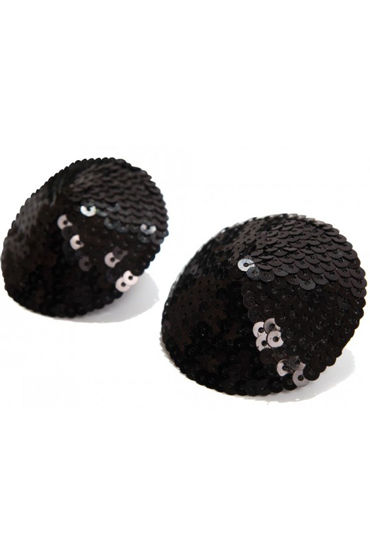Bijoux Indiscrets Burlesque Pasties Sequin, черные Пэстисы расшитые пайетками obsessive sheriffia черный костюм шерифа