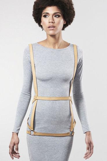 Bijoux Indiscrets MAZE Arrow Dress Harness, коричневая Портупея женская madmilk портупея